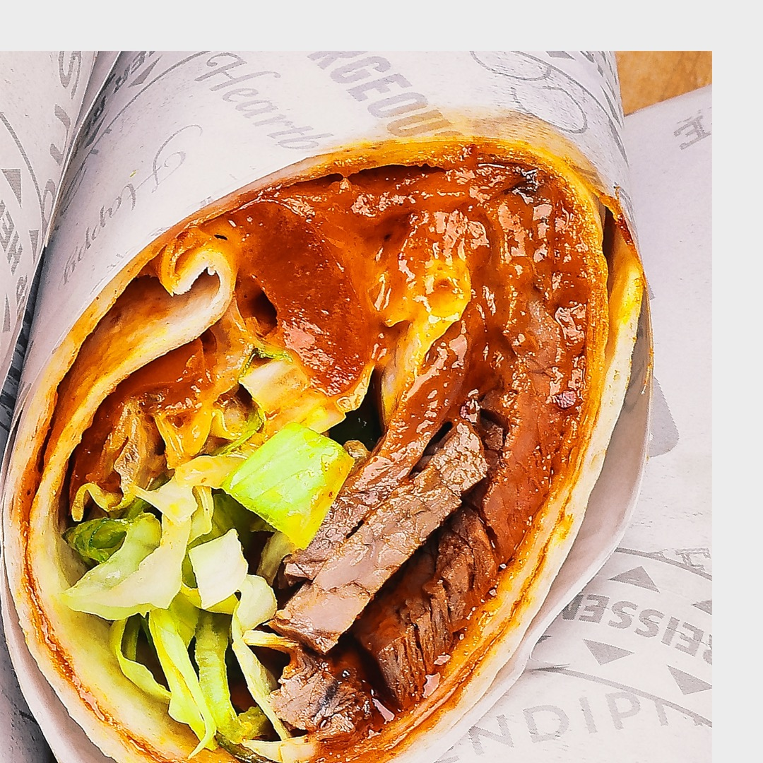 Wrap mit BBQ Beef - Catering Frankfurt - Catering Offenbach - Monsieur Raccoon